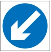 Keep Left Sign (610)