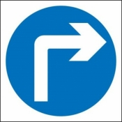 Turn Right Ahead Sign (609)