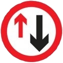 Priority To Oncoming Traffic Sign (615)