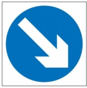 Keep Right Sign (610)