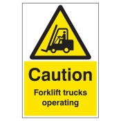 Caution forklift trucks operating floor graphic 400x600mm (58734)
