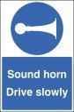 Sound horn drive slowly floor graphic 400x600mm (58736)