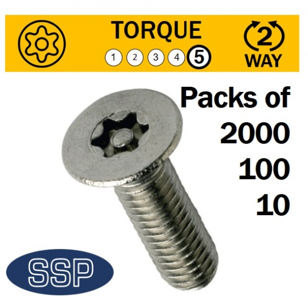 Pin Torx Countersunk Machine Security Bolts