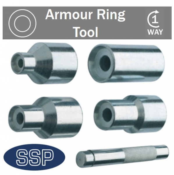 Armour ring security nut tool