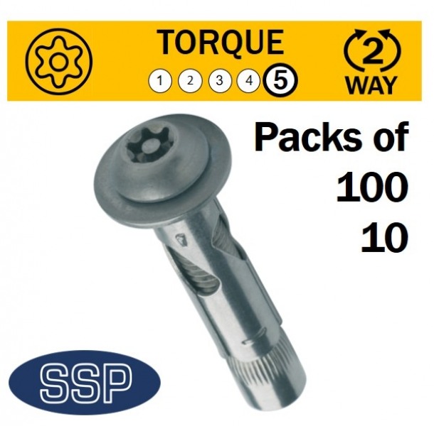 6 lobe pin sleeve anchors