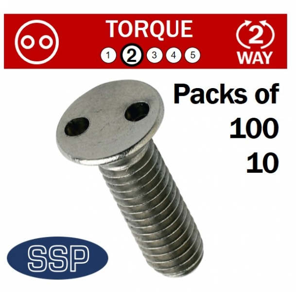 Pig nose Countersunk Machine Security Bolts