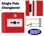 Call Point Button single pole changeover (Surface) Red-02