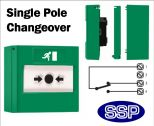 Access Control Emergency Exit Button single pole changeover (Surface) Green-02
