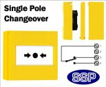 Gas Shut Off/Emergency Button single pole changeover (Surface) Yellow-02