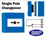 Evacuate/Cut-Off Button single pole changeover (Surface) Blue-02