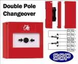 Fire Alarm Call Point Button Double Pole Changeover (Surface) Red-11