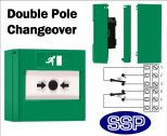 Access Control Emergency Exit Button Double Pole Changeover (Surface) Green-11