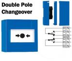 Cut Off Button Double Pole Changeover (Surface) Blue-11