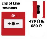Monitored Call Point Button EOL Resistors (Flush) Red-01
