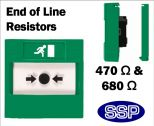 Access Control Emergency Exit EOL Resistors (Flush) Green-01