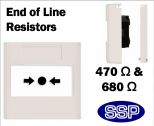 Emergency Call Point Button EOL Resistors (Flush) White-01