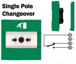 Access Control Emergency Exit Button single pole changeover (Flush) Green-02