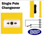 Gas Shut Off/Emergency Button single pole changeover (Flush) Yellow-02