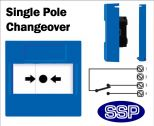 Cut-Off Push Button single pole changeover (Flush) Blue-02
