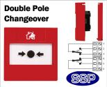 Fire Alarm Call Point Double Pole Changeover (Flush) Red-11