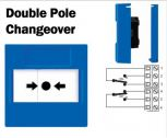 Cut Off/Call Point Button with Double Pole Changeover (Flush) Blue-11