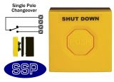 Yellow Gas/Emergency Single Pole Push Button (surface/flush)