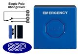 Blue Emergency Single Pole Push Button (surface/flush)
