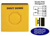 Yellow Gas/Emergency Double Pole Push Button (surface/flush)
