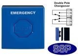 Blue Emergency Double Pole Push Button (surface/flush)