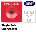 Two Position Key Switch Single Pole (surface/flush mount) Red