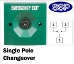 Two Position Key Switch Single Pole (surface/flush mount) Green