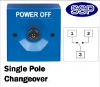 Two Position Key Switch Single Pole (surface/flush mount) Blue