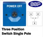 Three Position Key Switch (surface/flush mount) Blue