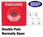 Two Position Key Switch Double pole normally open (surface/flush mount) Red