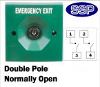 Two Position Key Switch Double pole normally open (surface/flush mount) Green