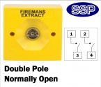 Two Position Key Switch Double pole normally open (surface/flush mount) Yellow
