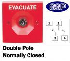 Two Position Key Switch Double pole normally closed (surface/flush mount) Red
