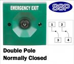 Two Position Key Switch Double pole normally closed (surface/flush mount) Green