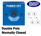 Two Position Key Switch Double pole normally closed (surface/flush mount) Blue