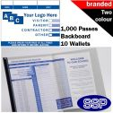 Personalised School Visitor Books Two Colour (1000 Passes)