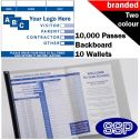 Personalised School Visitor Books Two Colour (10000 Passes)