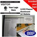 Personalised Visitor Book One Colour (4000 Passes)