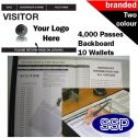 Personalised Visitor Book Two Colour (4000 Passes)