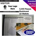 Personalised Visitor Pass Book Full Colour (5000 Passes)