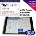 Personalised Contractor and Visitor Book Full Colour (4000 Passes)