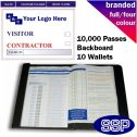 Personalised Contractor and Visitor Book Full Colour (10000 Passes)