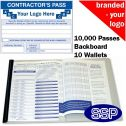 Personalised Contractor Book One Colour (10000 Passes)
