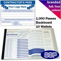 Personalised Contractor Visitor Book Full Colour (1000 Passes)
