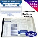 Personalised Contractor Visitor Book Full Colour (2000 Passes)