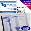 Personalised School Visitor Book Full Colour (500 Passes)